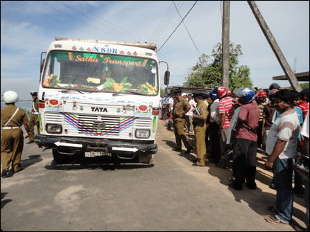 accident in Batticaloa