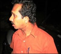 Sunil Handuneththi, a leading JVP figure and parliamentarian attacked in Jaffna