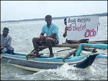Fishermen protest in Negombo