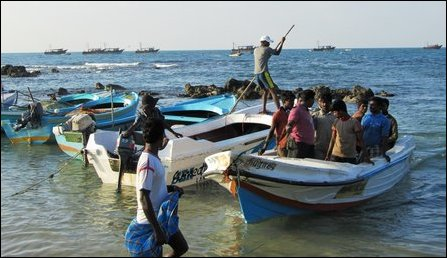 Indian trawlers in Point Pedro