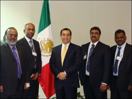 TGTE-D members meeting embasy official of Mexico