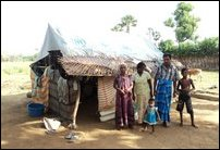 A resettled family in Vanni
