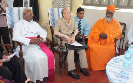 Akashi visits religious leaders in North