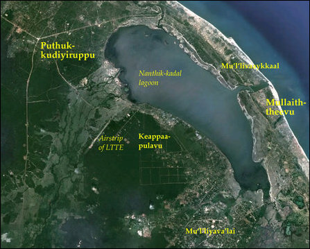 Keappaapulavu and the airstrip of the LTTE