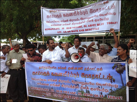 Protest in Keappaapulavu