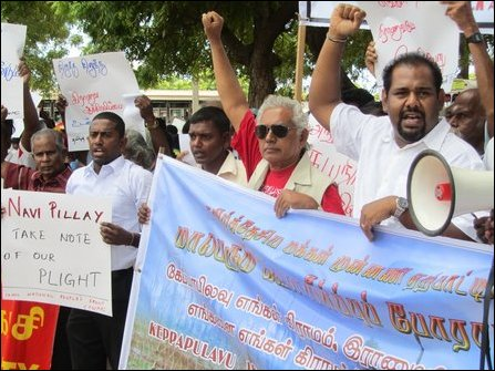 Protest in Vanni