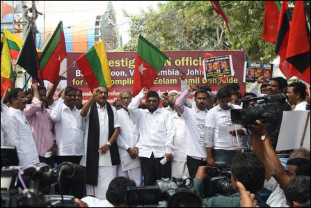 Protest against UN in Tamil Nadu