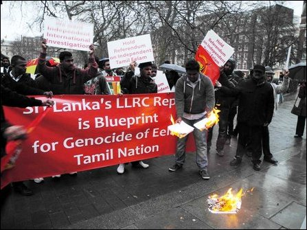 Protest in UK against  LLRC-based US resolution