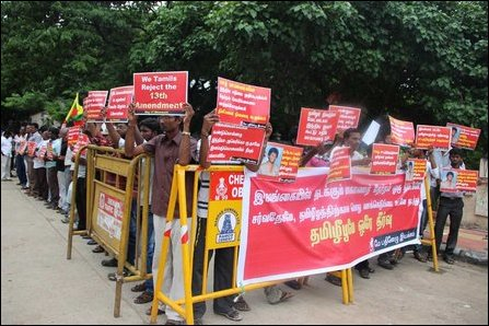 Protest in Chennai