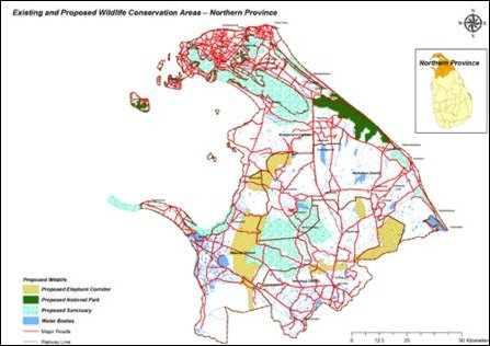 Another map by SL Department of Wildlife Conservation, revealing the extent of Sinhalicisation