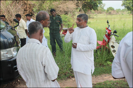 TNA politicians witness land grab by Sinhalese in East