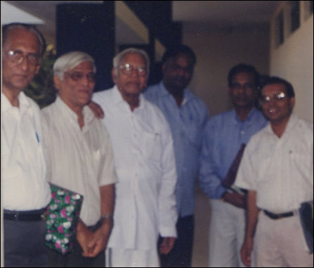 Attorney K.Sivapalan with Justice V.R.Krishna Iyer during a Human Rights Seminar held in Bengaluru,