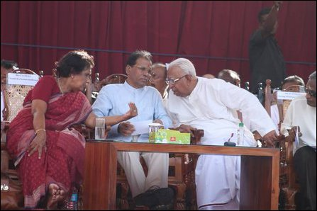 Champoor visit by Sirisena and Kumaratunga