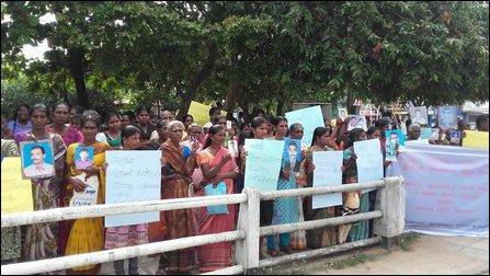 February 04 Black flag protest in Batticaloa