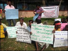 February 04 Black flag protest in Trincomalee