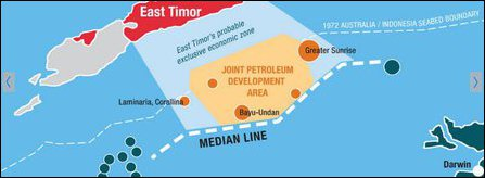 Maritime boundary conflict between Australia and East Timor