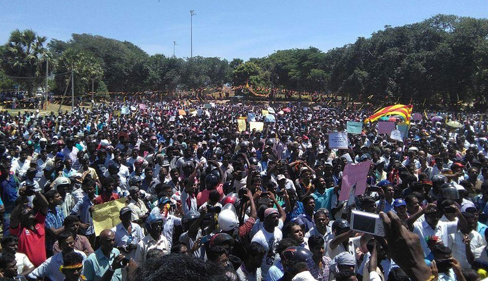 Sri Lanka: Tamils rally in Jaffna against occupation, ethnic cleansing