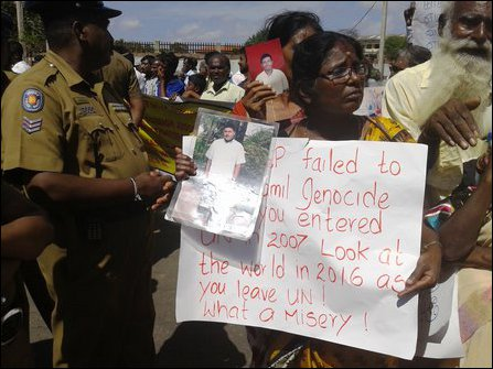 Protesters in Jaffna