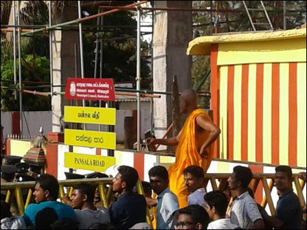 Batticaloa protest against extremist monk