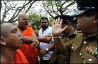 BBS monks march towards Batticaloa