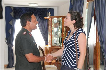 British visit to SL military base in Ki'linochchi