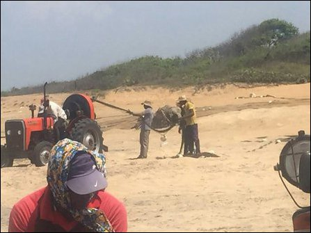 Sinhala colonists engage in illegal fishing in Kokku'laay