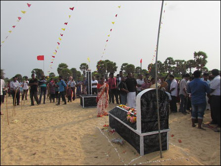 Memorial event organised by the TNPF at Kappaladi in Mu'l'livaaykkaal