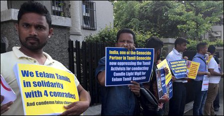 Protest in front of Indian Embassy