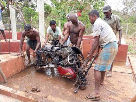 Motorbikes from abandoned well in KKS