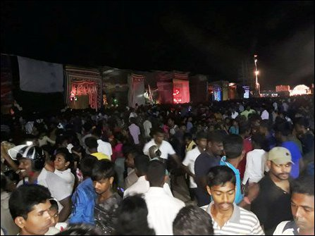 A section of the public at Muttave'li in Jaffna