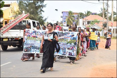 Enforced Disappeared protest in North