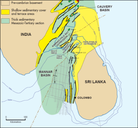 Cauvery and Mannaar Basins