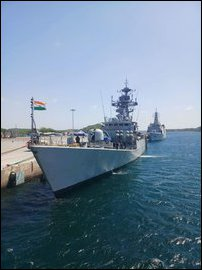Indian war ship in Trinco