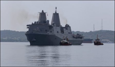 US war ship in Trincomalee