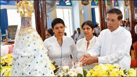 Sirisena's visit to Madu in July 2018