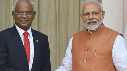 Modi & Solih in New Delhi