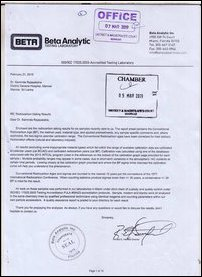 Cover letter of BETA addressed to JMO
