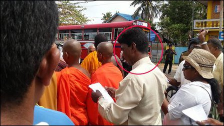 Nandasena with monks