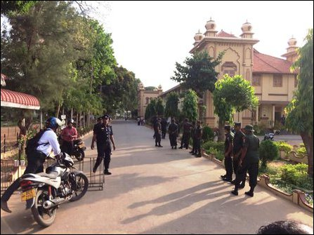 SLA, SL Police deployed on cordon and search operation at Jaffna University