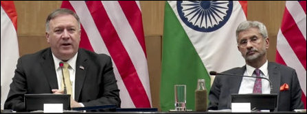 Mike Pompeo and Subrahmanyam Jaishankar