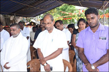 Remembrance event held at Ma'ndoor in Batticaloa on 25 September 2019