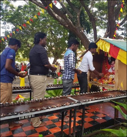 Lt Col Thileepan commemorated at Jaffna University