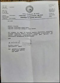 JUSU instructed not to stage Tamil Eelam Heores Day at Jaffna University