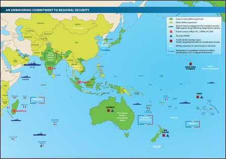 Overview of main and other Defense Partners of France in the Indo-Pacific