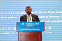 Admiral Prof. Jayanath Colombage in China