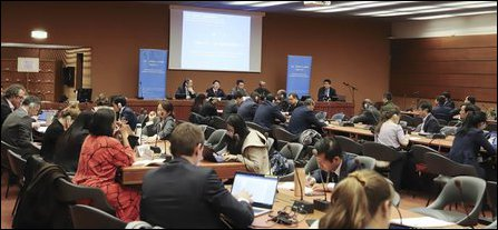 China's side-event in Geneva with Colombage attending the event