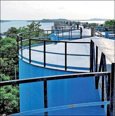 A section of oil tanks at Trincomalee in production
